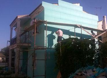 Θερμοπρόσοψη κτιρίου στην Κέρκυρα