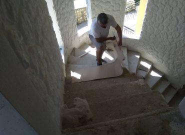 Επένδυση εσωτερικού τοίχου στην Κέρκυρα